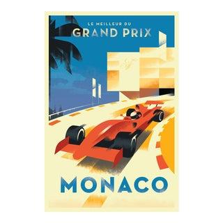 Danish Modern Car Racing Poster, Monaco Grand Prix
