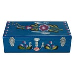 Image of Handpainted Indian Blue Lorry Trunk