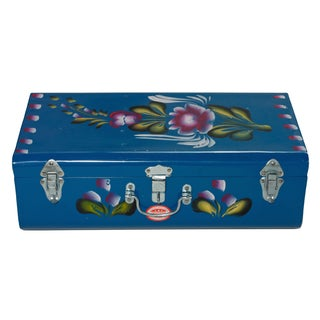 Handpainted Indian Blue Lorry Trunk