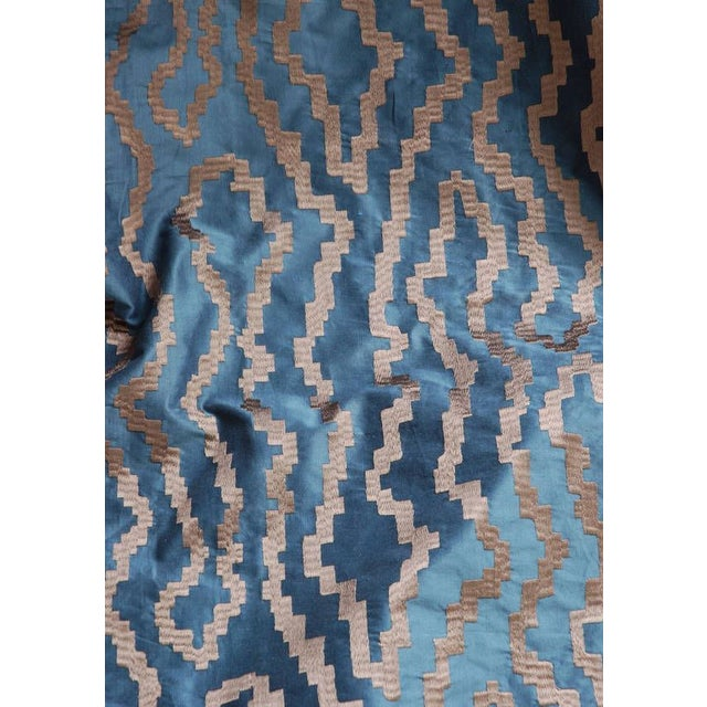 Blue Silk Abstract Pillow - Image 4 of 4