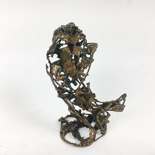 Ben Kupferman Bronze Sculpture With Malachite - Image 2 of 6