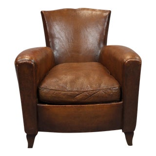 1940's French Leather Club Chair