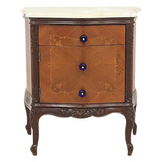 Louis XV Onyx & Wood Cabinet