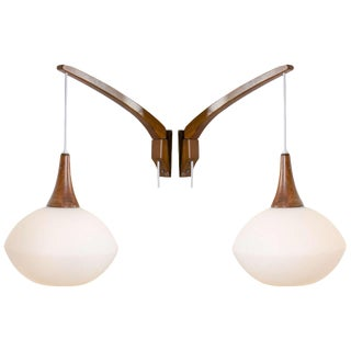 Pair of Swedish Adjustable Wall Sconces by Luxus