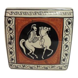 Etruscan Style Rectangular Ceramic Planter