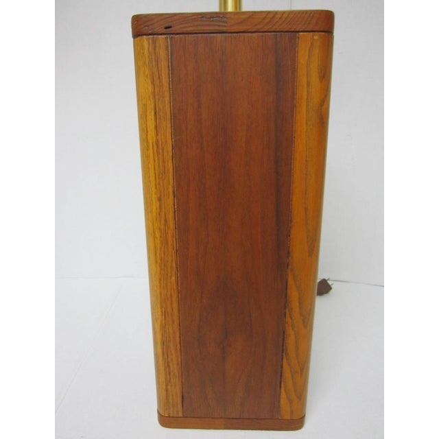 Mid Century Modern Solid Wood Table Lamp - Image 7 of 10
