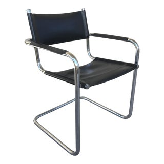Mart Stam S34 Italian Leather Side Chair