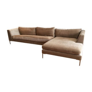 ABC Carpet Upholstered L Shaped Sofa