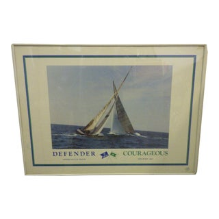 """1983 """"Defender-Courageous"""" America's Cup Print"""