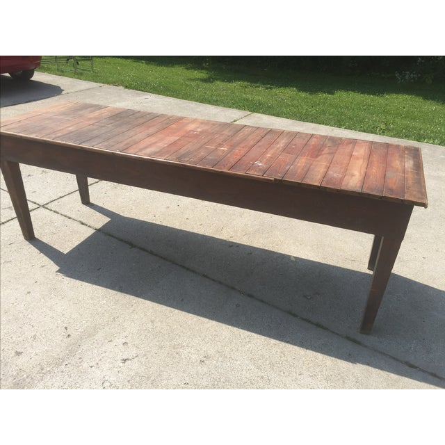 Antique Farmhouse Dining Table - Image 4 of 4