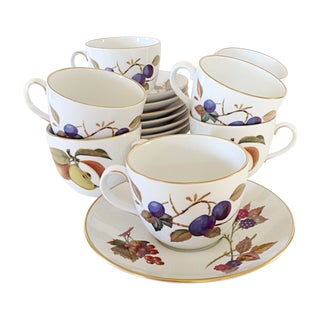 Royal Worcester Cup & Saucers - Set of 10