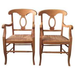 Pottery Barn Napoleon Armchairs - Pair