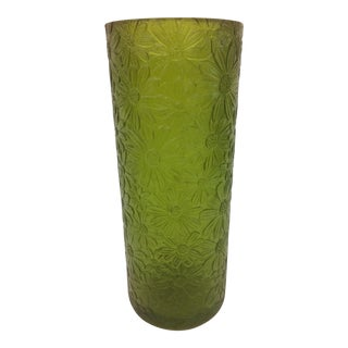 1970s Sascha Brastoff Green Resin Candle Holder