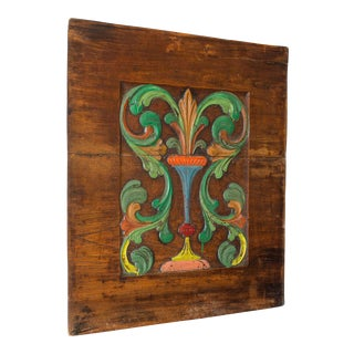 Painted, Carved Fountain Panel, France c.1890