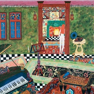 """Con Spirito"" Fantasy Interior of a Music Room Painting"
