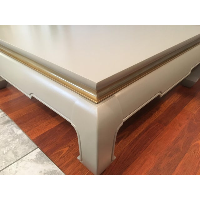 Painted Retro Coffee Table: 1960s Upcycled Vintage Thomasville Hand Painted Coffee