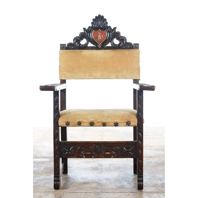 Spanish Renaissance -Carved Side Chairs -A Pair - Image 3 of 10