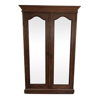 Solid Wood Armoire With Antiques Mirrors
