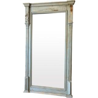 Antique Scandinavian Painted Pine Wall Mirror