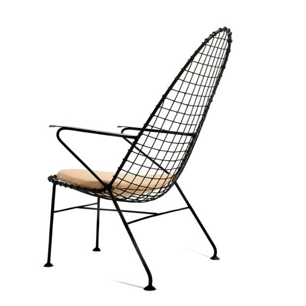 Italian Wire Chairs - A Pair - Image 2 of 4