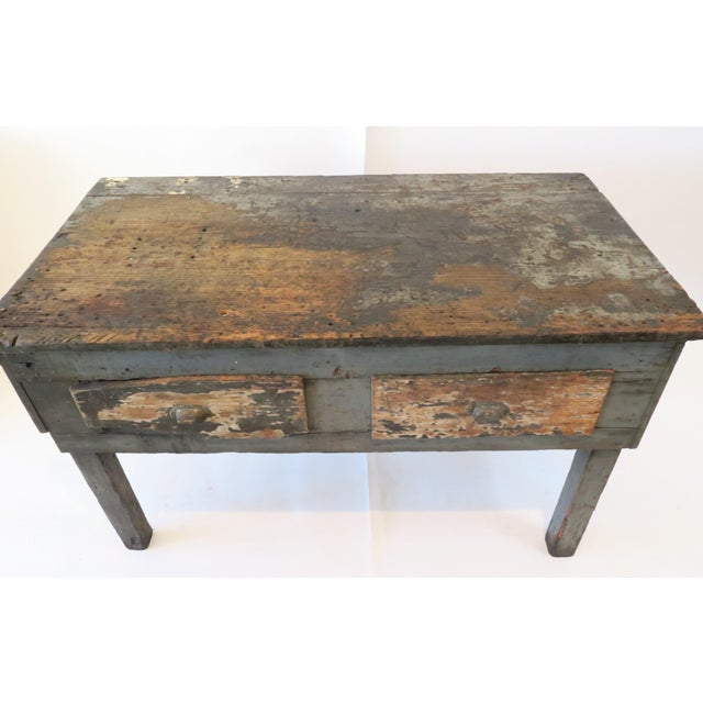 Rustic Wood Work Table - Image 3 of 8