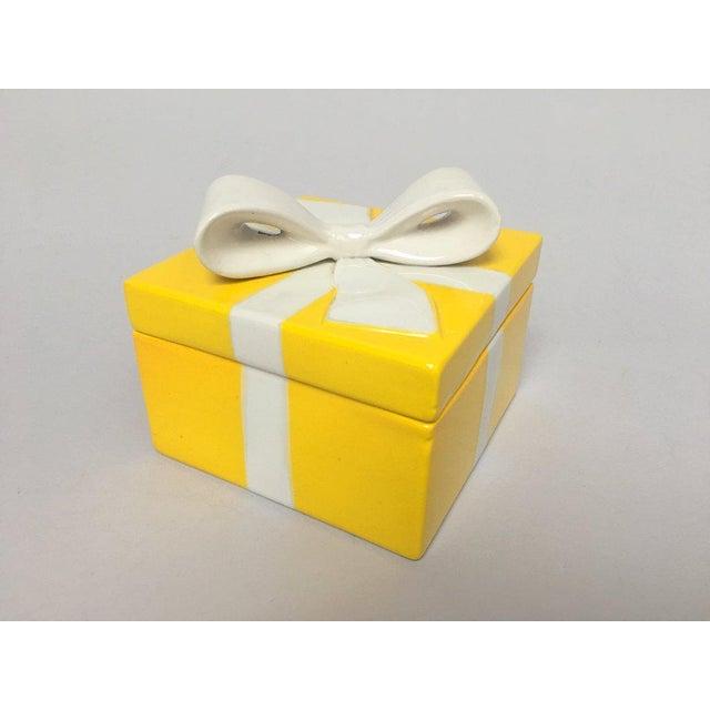 Mancioli Italy Yellow Porcelain Covered Gift Box - Image 2 of 11