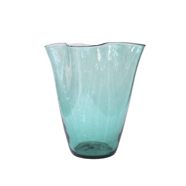 Hand Blown Vintage Blenko Glass Vase - Image 1 of 3