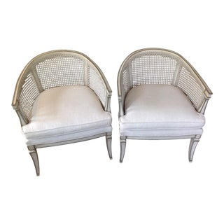 Mid-Century Modern Barrel Chairs - A Pair