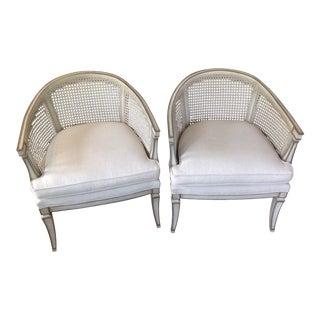 Mid-Century Modern Barrel Chairs - A Pair