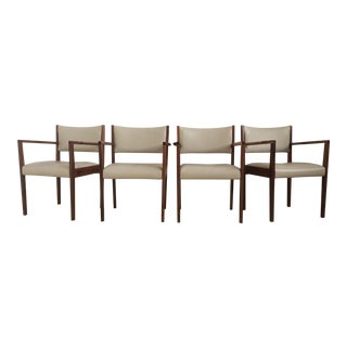 Jens Risom Dining Arm Chairs - Set of 4