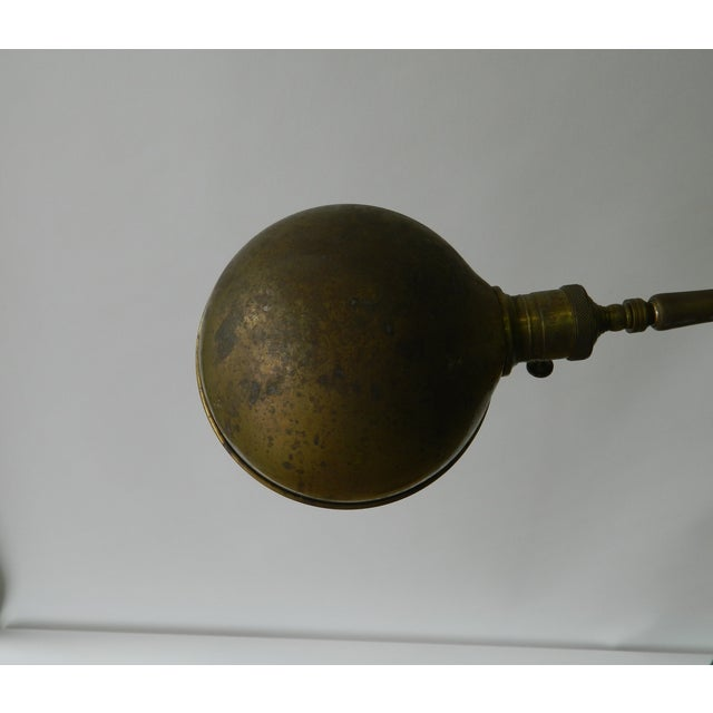 Vintage Brass Dome Floor Lamp - Image 4 of 6