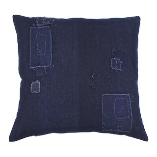 Antique Indigo Boro Pillow