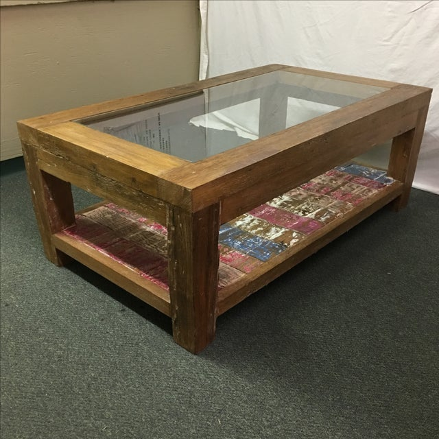 Rustic Whitewashed Coffee Table - Image 8 of 9