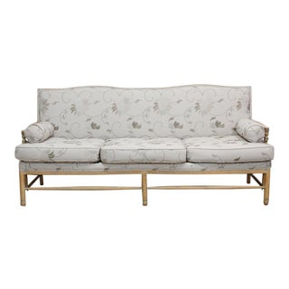 Neutral Floral Upholstered Sofa