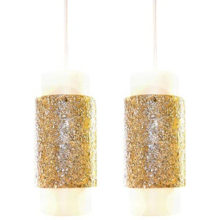 Pair of Cylindrical Pendant Lights