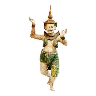 Wooden Burmese Standing Nat Spirit