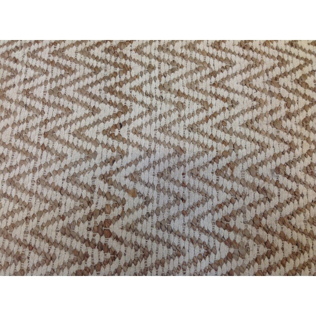 Chevron Rug in Beige and White - 9′ × 12′ - Image 7 of 9