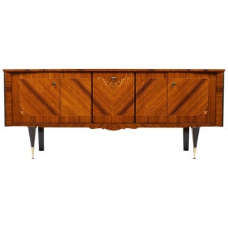 Vintage French Polished Rosewood Credenza