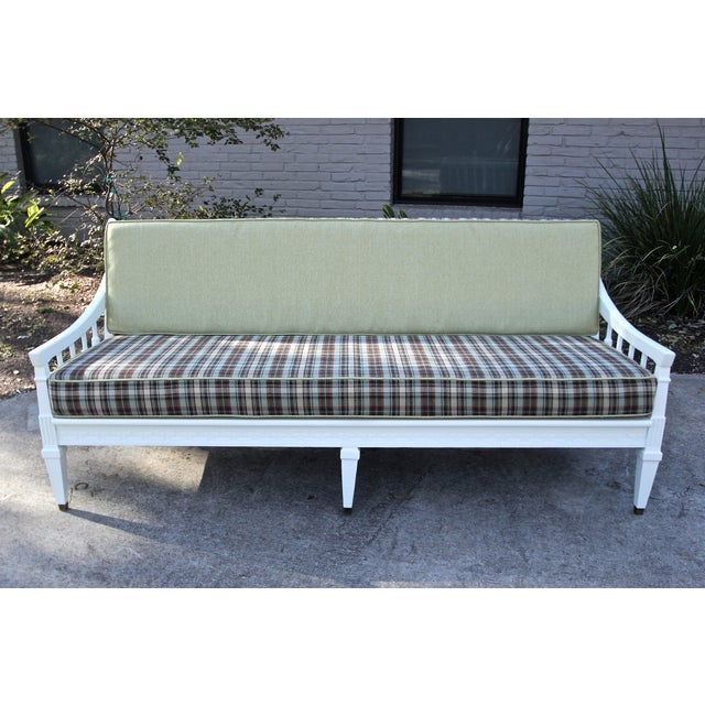 Mid-Century Traditional Plaid Sofa - Image 3 of 5