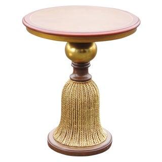 Parquetry Inlaid Gilt Tassel Table