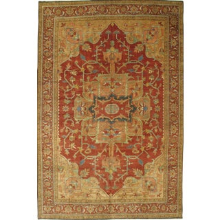 "Pasargad N Y Hand-Knotted Serapi Rug - 9'10"" X 15'"