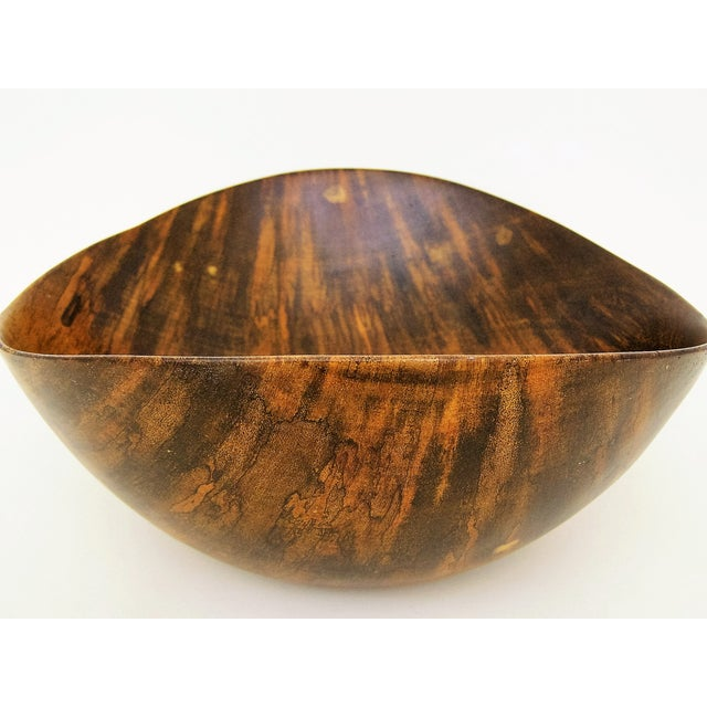 David Auld Large Mid-Century Wood-Carved Bowl - Image 7 of 11