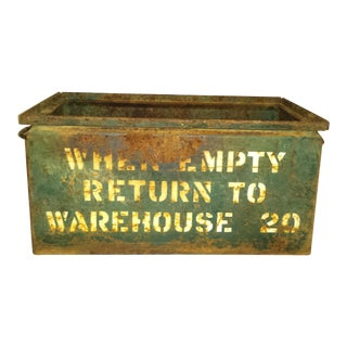 Large Metal Warehouse Box