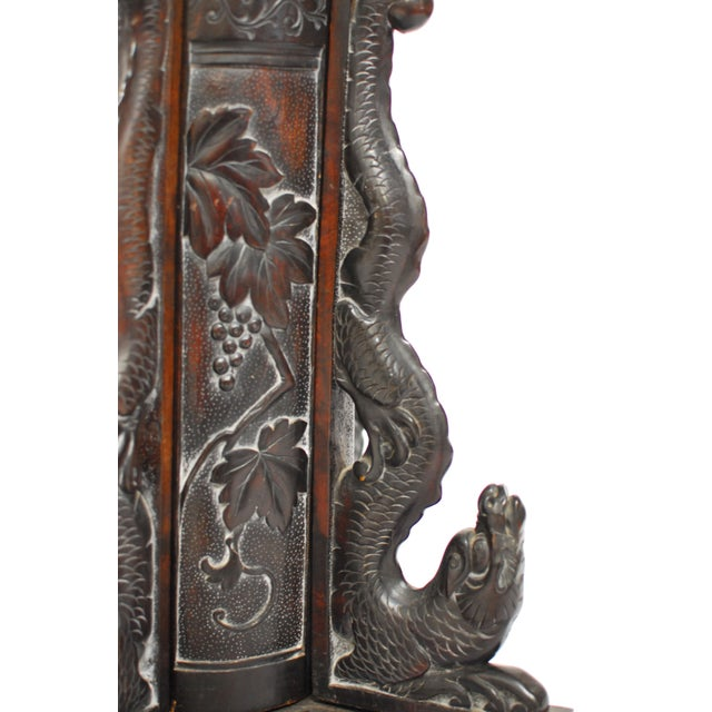 Chinese Carved Dragon Stand Candleholder - Image 2 of 5