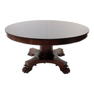 Large Round Mahogany Banquet Table