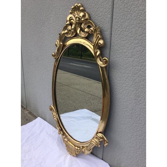 1970's French Style Brass Mirror - Image 5 of 9