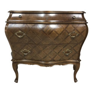 Inlaid Italian Ethan Allen Bombe Chest
