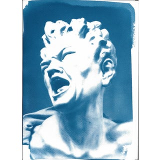Cyanotype Print, Bernini 'Damned Soul' Sculpture