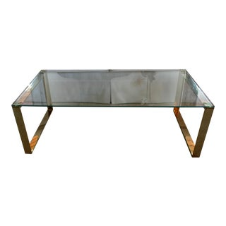 Mid Century Inspired Glass Coffee Table