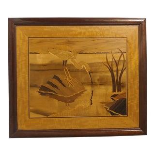 Hudson River Inlay Art - Heron